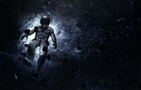 Картинка космос, скафандр, костюм, невесомость, астронавт