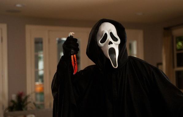 Картинка фильм, нож, ужас, horror, страшно, убийца, крик, movie, scream, killer, knife, scary