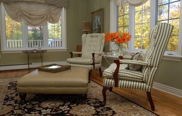 Картинка дизайн, дом, стиль, вилла, интерьер, коттедж, гостиная, жилая комната, classic style