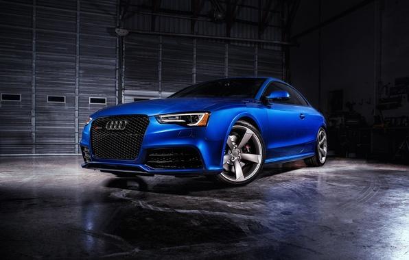 Картинка Audi, ауди, синяя, Coupe, RS 5