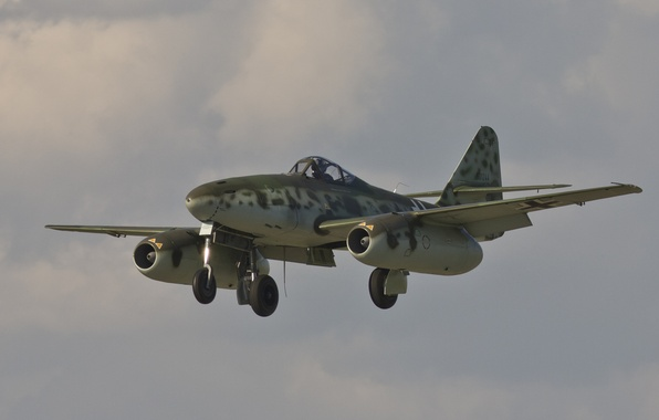Картинка истребитель, войны, бомбардировщик, реактивный, мировой, Второй, времён, Me.262, Мессерщмитт