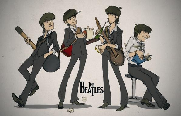 Картинка гитары, арт, блокнот, книга, The Beatles, битлз, Джордж Харрисон, Джон Леннон, Пол Маккартни, Ринго Старр