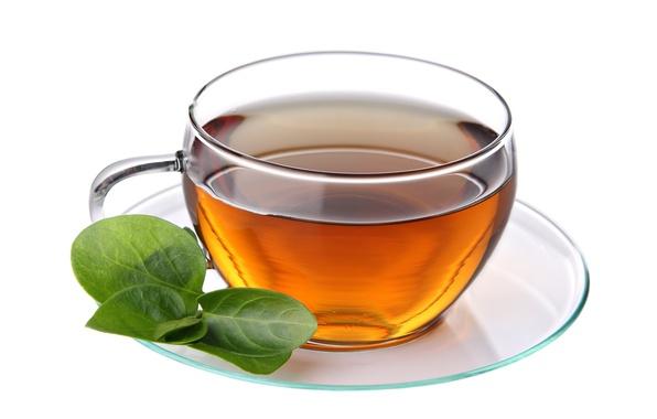 Картинка чай, чашка, белый фон, блюдце, листики, tea