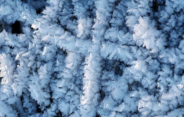 Картинка лед, зима, кристалы