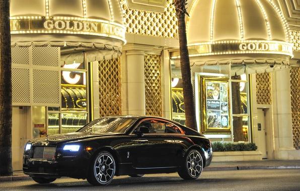 Фото обои wallpapers, роскошный, Rolls-Royce, роллс-ройс, Wraith, nice, car, авто, Black Badge