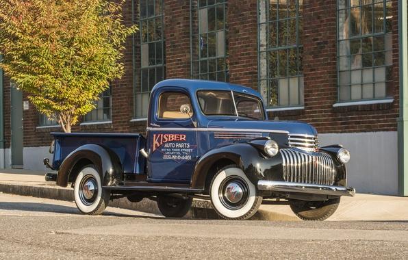 Картинка фон, Chevrolet, Шевроле, пикап, передок, Truck, 1941, Pickup
