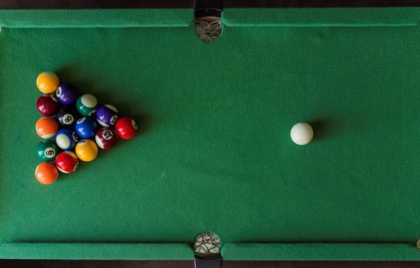 Картинка стол, шары, спорт, бильярд