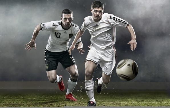 Картинка футбол, мяч, адидас, adidas, gerrard, soccer, podolski