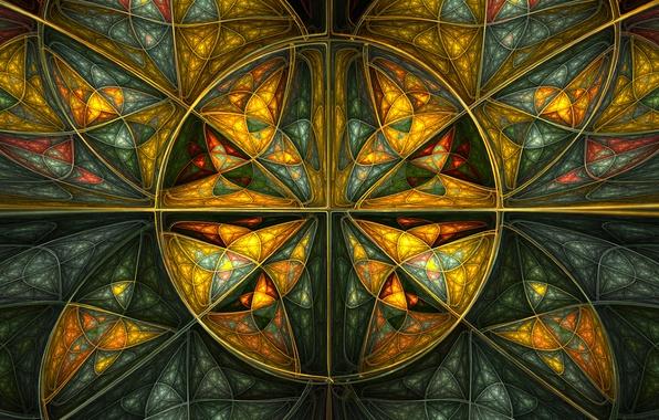 Картинка линии, узор, краски, объем, симметрия