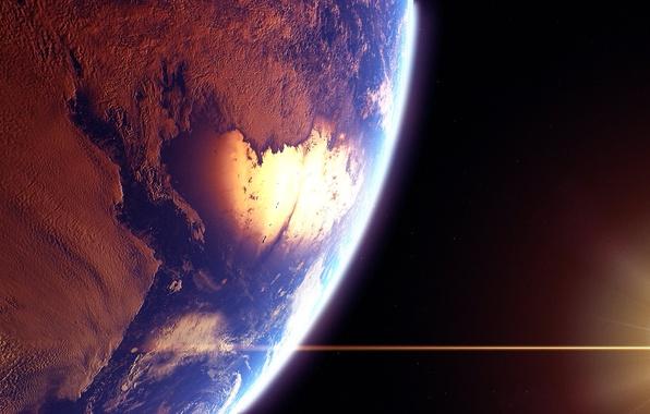 Картинка звезды, поверхность, свет, планета, атмосфера, рельеф