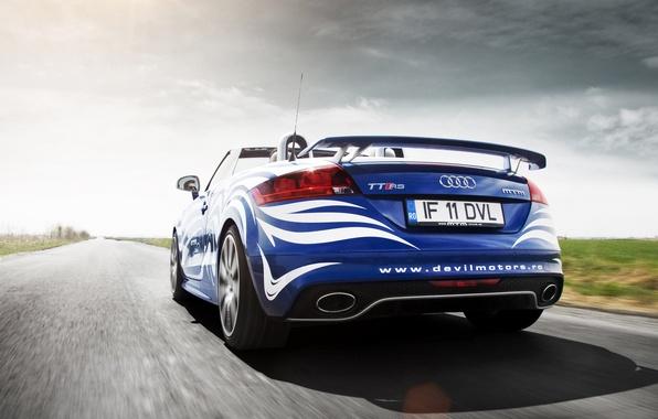 Картинка Audi, Облака, Авто, Дорога, Тюнинг, Скорость, Машины