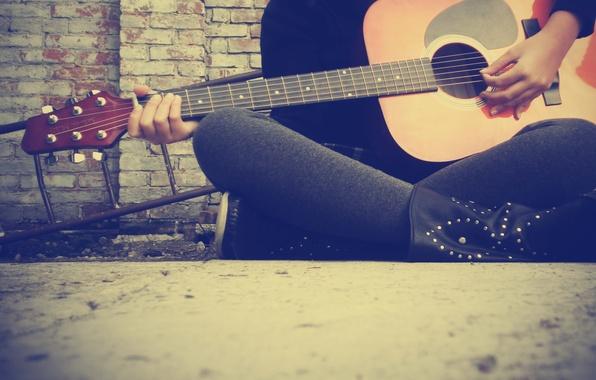 Фото обои гитара, струны, обои, музыка