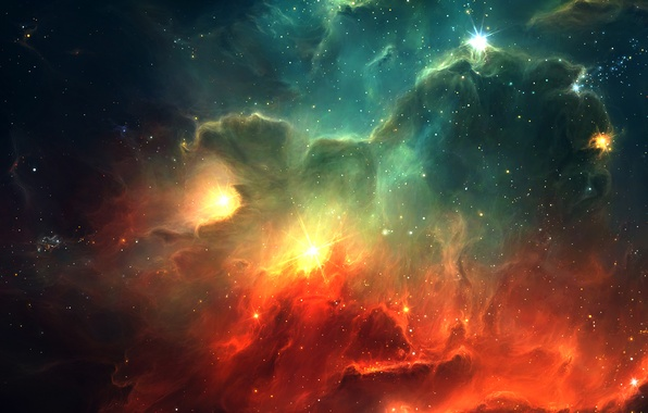 Картинка звезды, туманность, вселенная, Космос