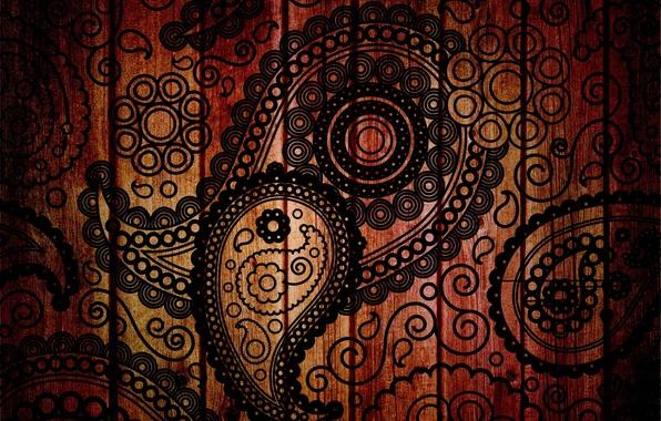 Картинка листья, капли, фон, дерево, узоры, рисунок, текстура, лепестки