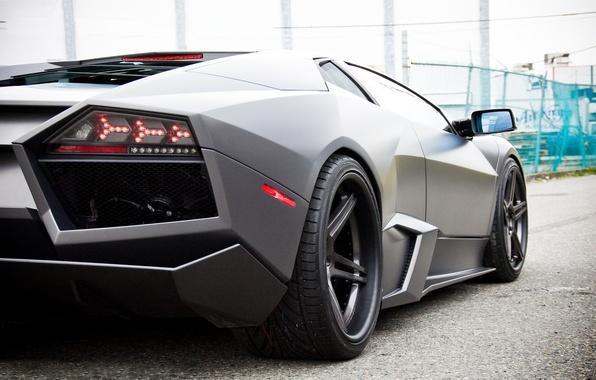 Картинка Lamborghini, Reventon, матовый, тёмный, ламборджини, ревентон
