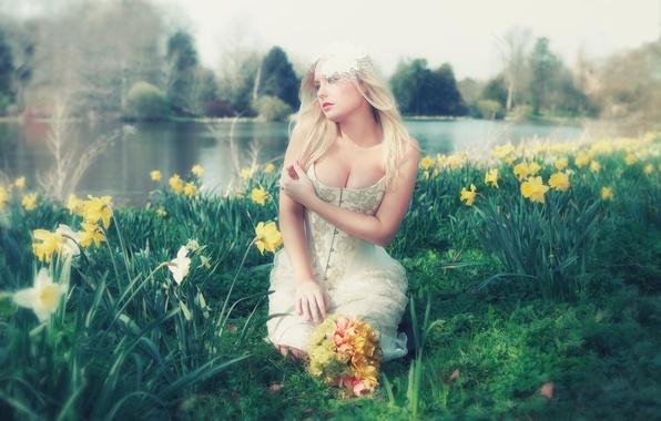 Картинка цветы, декольте, Faerie, Lorena F