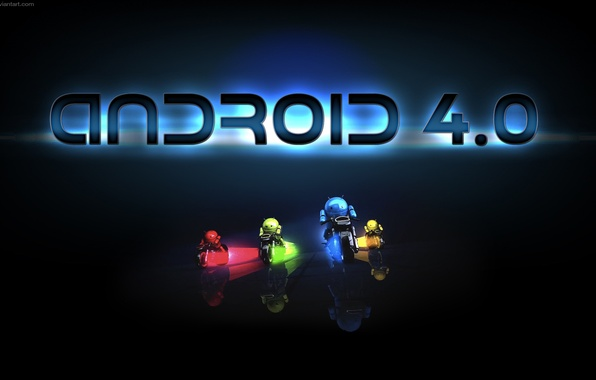Картинка green, red, Android, yellow, blue, Android 4.0