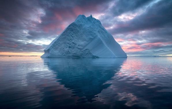 Картинка море, природа, лёд, айсберг, север