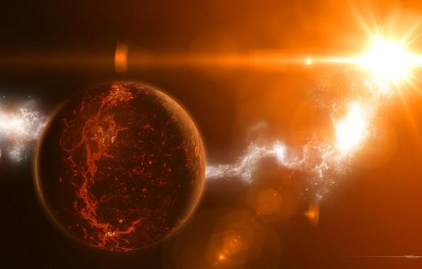 Картинка свет, звезда, планета, star, температура, излучение
