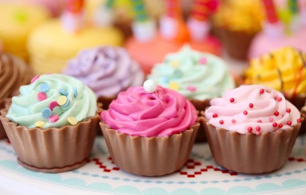 Картинка крем, выпечка, кексы, cakes, присыпка, pastries, cream powder