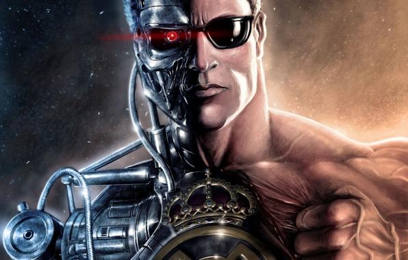 Картинка фильм, футбол, спорт, механизм, робот, клуб, sport, эмблема, robot, Испания, club, Арнольд, Шварценеггер, football, Terminator, …