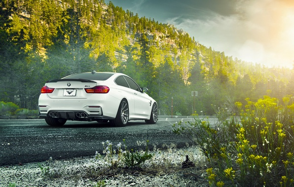 Картинка BMW, Car, Vorsteiner, White, Wheels, F82, Rear, V-FF, 102