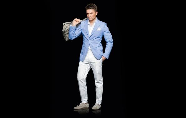 Картинка костюм, мужчина, певец, брюнет, Сергей Лазарев