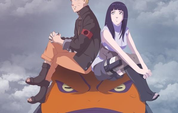 Картинка Naruto, sky, pretty, ninja, hero, asian, cute, shinobi, japanese, Hyuuga Hinata, byakugan, Uzumaki Naruto, oriental, …