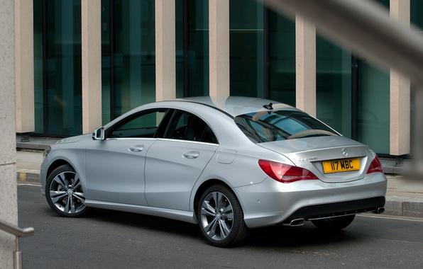 Картинка машина, Mercedes-Benz, мерс, задок, CLA 180