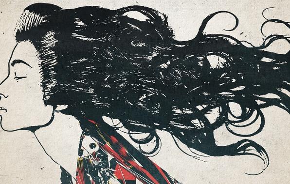 Картинка девушка, стиль, волосы, art