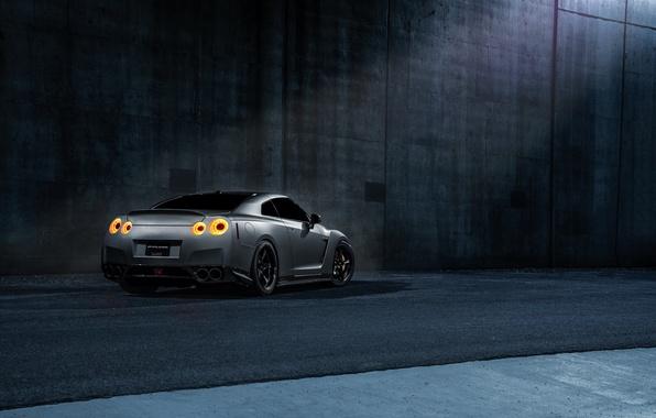 Картинка Imperial, Dark, GTR, Japan, Nissan, Car, California, Grey, Best, R35, Sport, Rear, Works