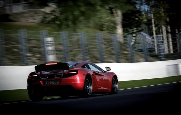 Картинка McLaren, скорость, размытие