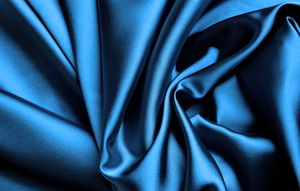 Картинка синий, блеск, шелк, ткань, складки, silk, сатин