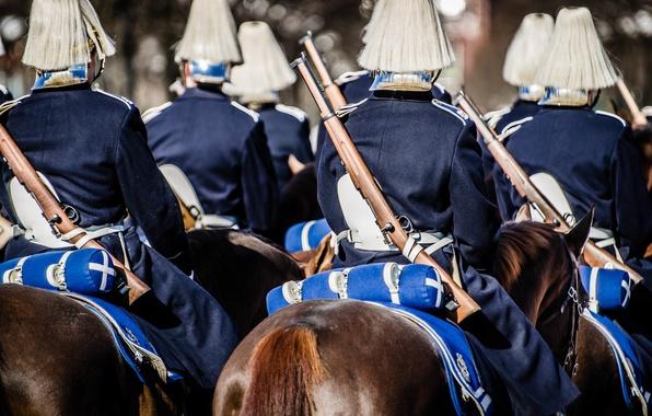 Картинка soldiers, Sverige, rifles, guard, Royal Horse Guards