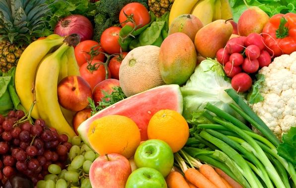 Картинка лето, цвета, еда, фрукты, овощи