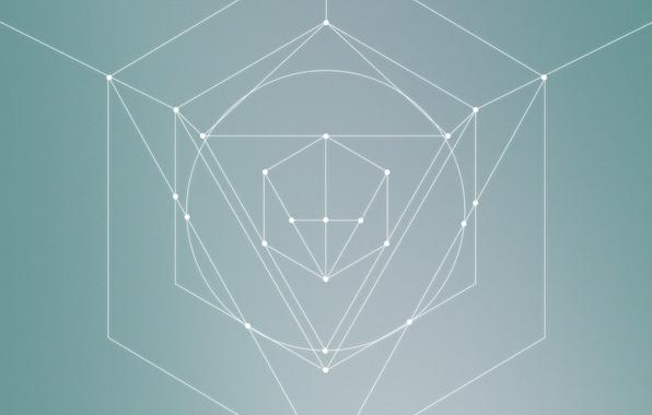 Картинка минимализм, фигуры, треугольник