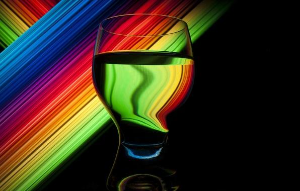 Картинка стакан, спектр, photographer, Паша Иванов, изкажение