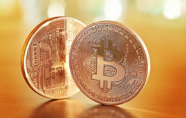 Картинка metal, currency, bitcoins