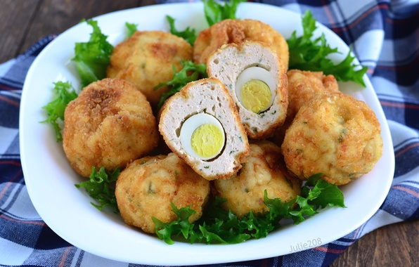 Фото обои мясо, яйцо, курица, блюдо