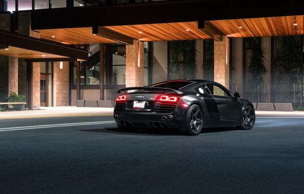 Картинка Audi, Black, Redwood, Exotic, Rear, SS Customs