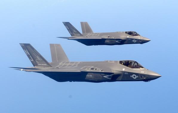 Картинка истребитель, бомбардировщик, Lightning II, F-35C