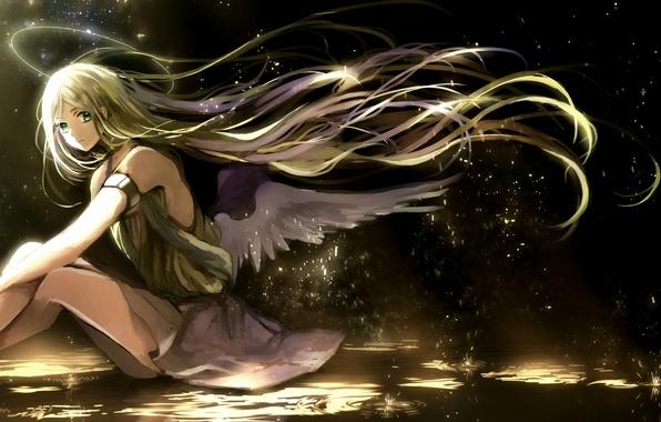 Арт canarinu kmes девушка крылья ангел