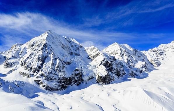 Картинка снег, горы, хребет