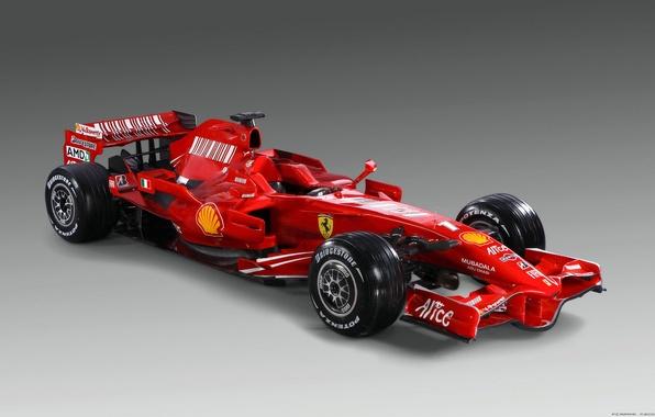 Картинка красный, Ferrari, болид, Formula-1