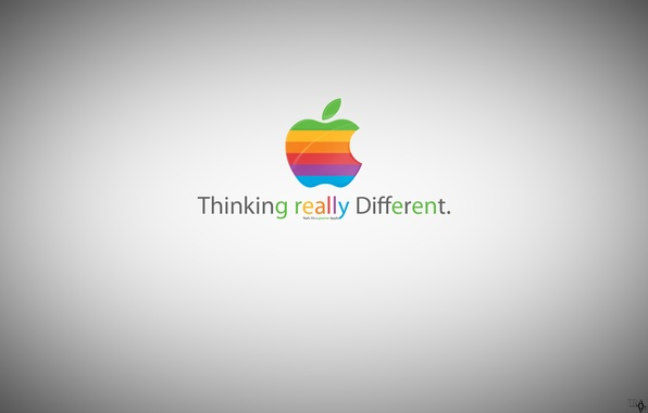 Фото обои apple, greener apple, thinking really different