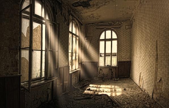 Картинка дом, стиль, креатив, мусор, окна, грязь, квартира, ремонт, лучи света