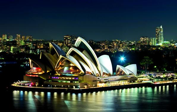 Картинка stadium, fantastic, paradise, cool, sydney, city blue, places