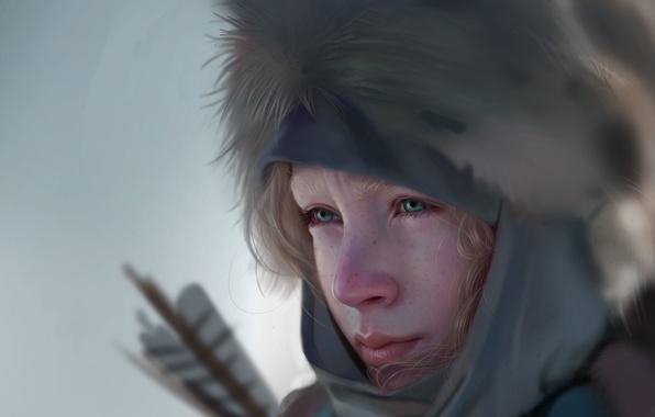 Картинка девушка, лицо, фильм, арт, стрелы, Saoirse Ronan, Сирша Ронан, Ханна, Совершенное оружие, взгляд. холод
