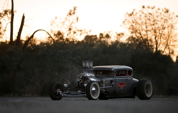 Картинка Ford, Hot Rod, Coupe, Rat Rod, Model A