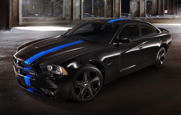Картинка черный, Dodge, charger